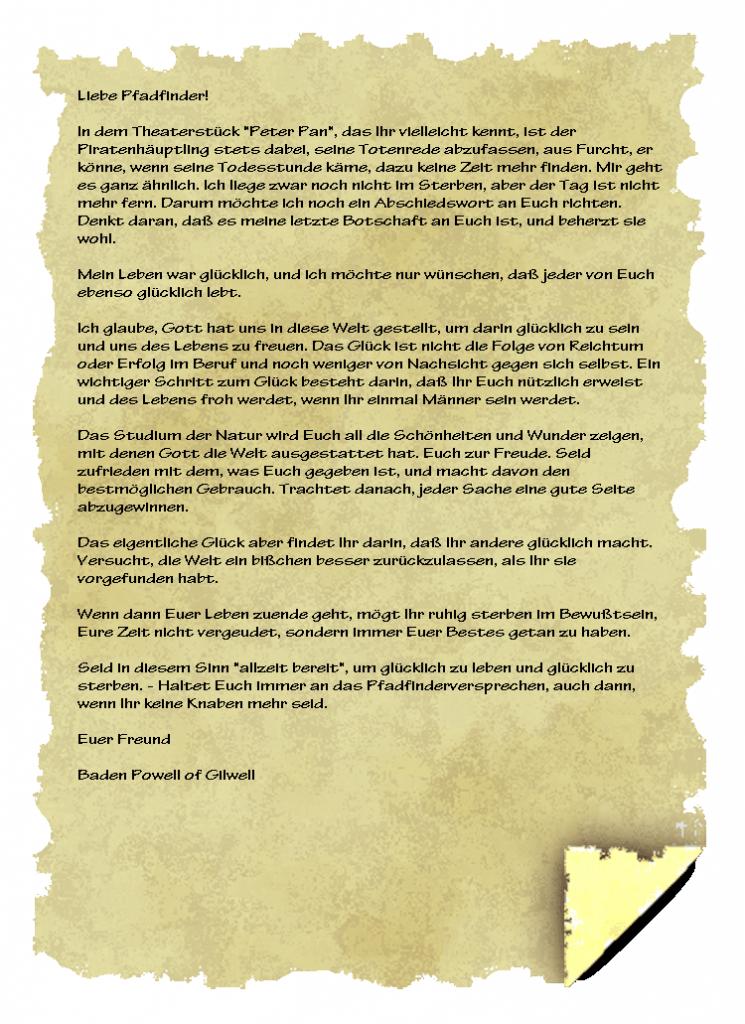 abschiedsbrief